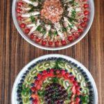 Fruitsalade en vissalade